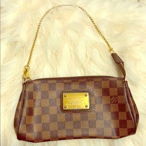 Louis Vuitton Eva Ebene Damier Shoulder Bag